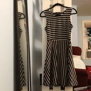 Old Navy Black and White Striped Dress, Size S